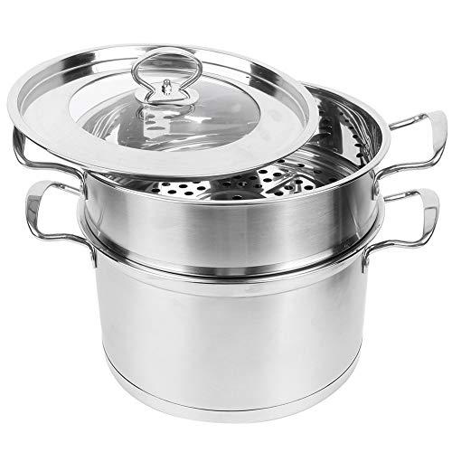 Olla de vapor de comida de 2 capas de acero inoxidable con suministros de cocina inferior compuesto