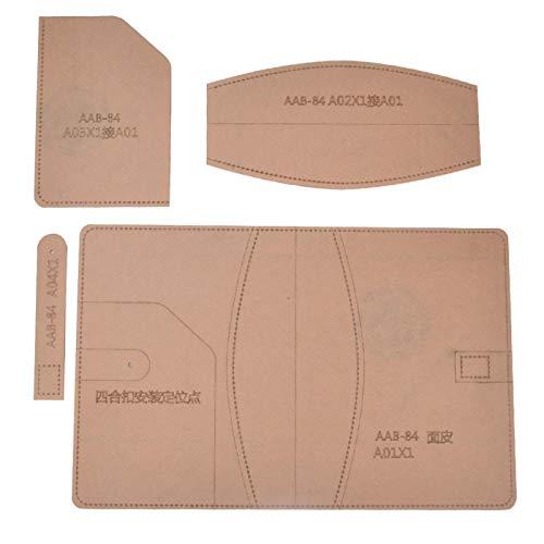 Klare Acryl-Schablone, klares Acryl-Schablonenset für das Schneiden von Leder