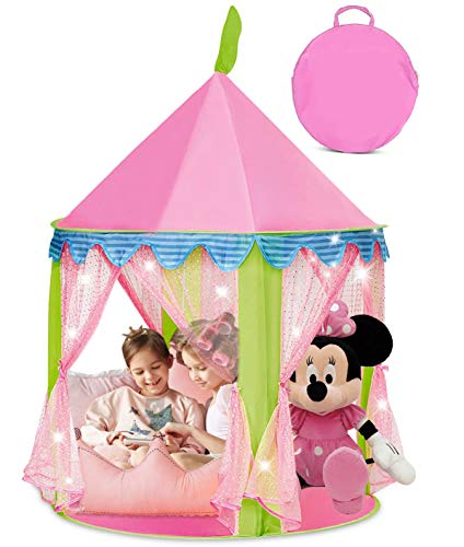 Princess Castle Girls Play Tent – Kids Pop Up Pink Playhouse Toy - Toddler and Baby Gift- for Indoor/Outdoor Use, Carrying Case Included, Great Christmas and Birthday Gift