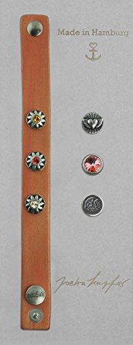 Gogoritas Lederarmband Button Armband Set Tequila Sunrise, Made with Swarovski Elements