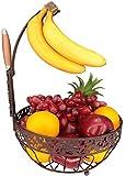 Fruit Basket + Banana holder, Elegant Fruit Bowl with Banana Tree...