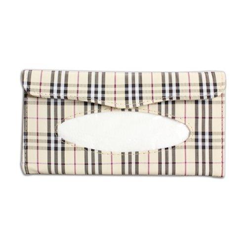 Glamorway Plaid Paper Towel Napkin Holder Box Tissue Case Cover for Car Sun Visor