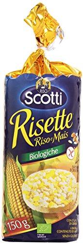 Riso Scotti - Risette, Riso e Mais - Prodotto Biologico - 4 pezzi da 150 g [600 g]