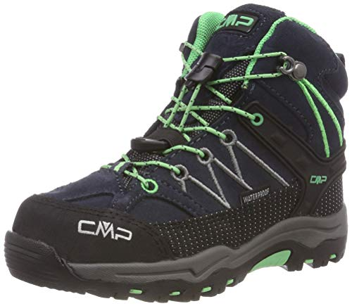 CMP Unisex-Kinder Kids Rigel Mid Shoe Wp Trekking- & Wanderstiefel, Grau (Asphalt-Ice Mint 64bn), 33 EU