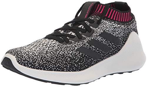 adidas Women's PureBounce+ Running Shoe, White/Black/Chalk Pearl, 8.5 M US