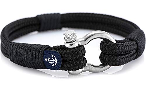 Constantin Nautics Handmade Nautical Bracelets of Nautical Sailing Rope- Large Variety with Stainless Steel Screw Barrel Clasps - Gift Idea for Men & Women