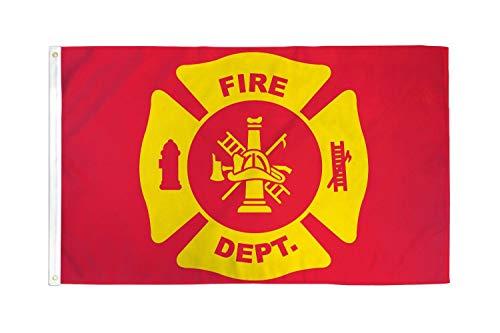 AZ FLAG Drapeau USA Pompier 150x90cm - Drapeau américain - Etats-Unis 90 x 150 cm - Drapeaux