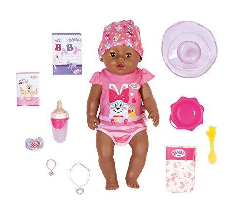 Zapf Creation 827970 BABY born Magic Girl Brown Eyes 43 cm - neu mit magischem Schnuller und 10 lebensechten Funktionen