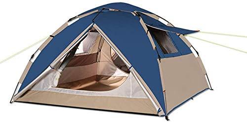 HSBAIS Camping-Tiendas, Tienda de campaña a Prueba de Viento de la Familia 4 Persona Tienda de la bóveda a Prueba de Agua portátil Carpas ventilado,Blue