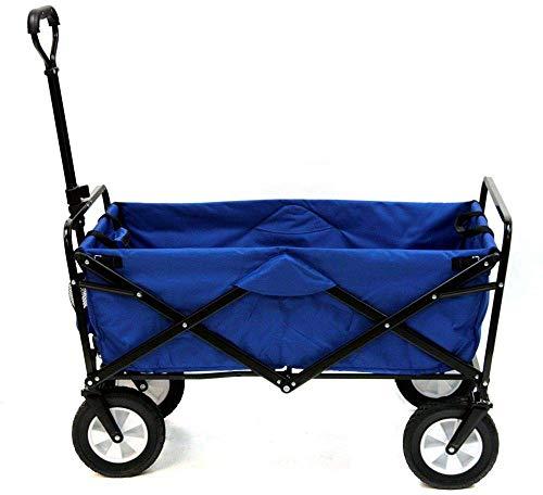 MZH big wheel 600D shopping cart, sturdy black powder coated steel shopping cart trolley