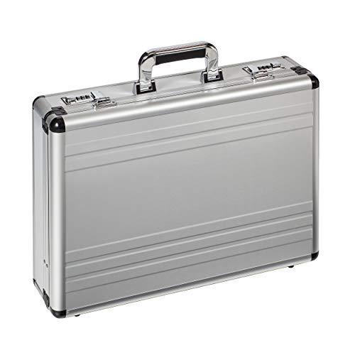 Dermata Aktenkoffer aus Aluminium 46 cm Silber