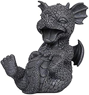 Pacific Trading Laugh Out Loud LOL Outdoor Garden Dragon Statue, 8 Inch