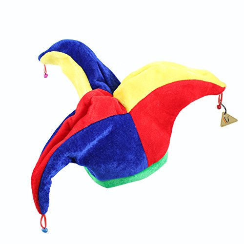 IDS Home Funny Multicolor Halloween Jester Clown Mardi Gras Party Costume Hat