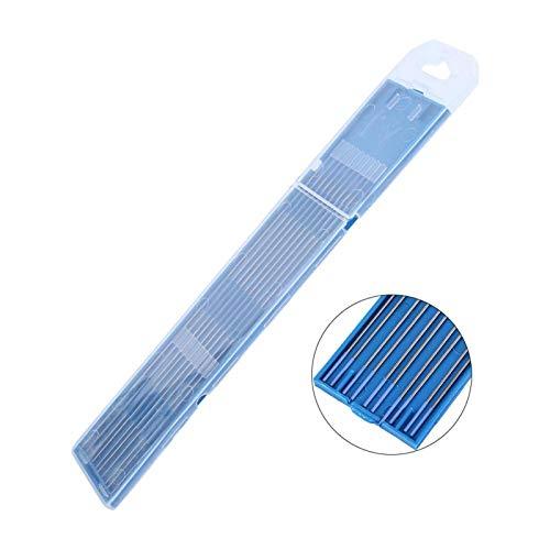 EVTSCAN, último electrodo lantanado de soldadura de tungsteno, 1,0/1,6/2,4 mm, punta azul, soldadura de tungsteno al 2%, electrodos lantanados, 10 piezas(1.0 * 150mm)