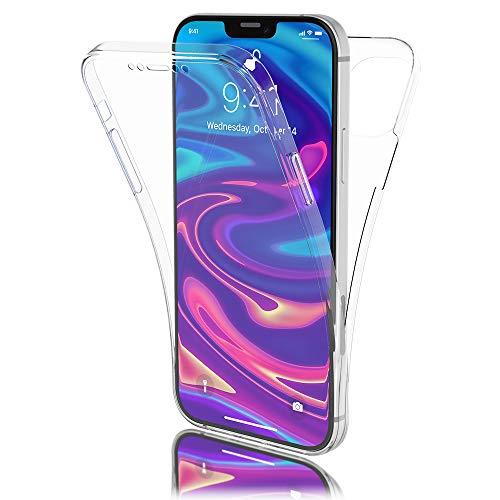 Preisvergleich Produktbild Kaliroo Handyhülle 360 Grad kompatibel mit iPhone 12 Mini Hülle,  Ultra-Slim Full-Body Case Rundum Silikon Schutzhülle,  Dünne Handy-Tasche Phone Cover Komplett-Schutz Full-Cover TPU Etui - Transparent