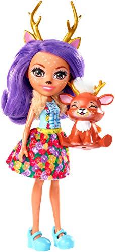 Enchantimals-FXM75 Danessa Il Cerbiatto con Amico Cucciolo, Bambola da 15 Cm con Accessori, e Sprint Animal Friend Figura, Multicolore, FXM75