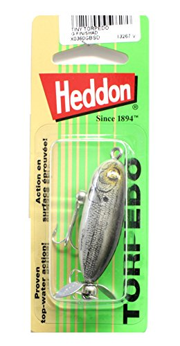 Heddon Tiny Torpedo Lure (Gold Finish/Shad, 1 7/8-Inch)