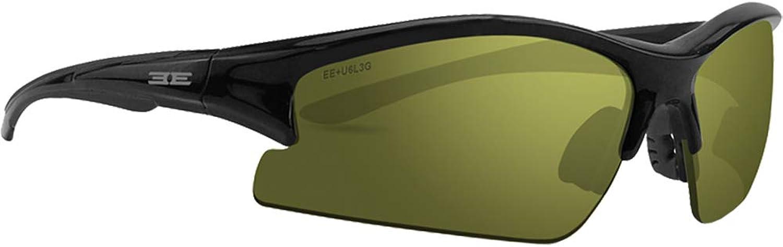 Epoch Eyewear Sunglasses  Epoch 1  Black Frame Green Lens