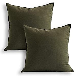 """WHAT you can get: 2 pcs 18""""x18"""" green pillowcases which are made of grade A natural eco-friendly 55% linen and 45% cotton. HOW to wash: Do not bleach and tumble dry. Cool iron on reverse. Wash dark colours separately. Remove immediately if product be..."""