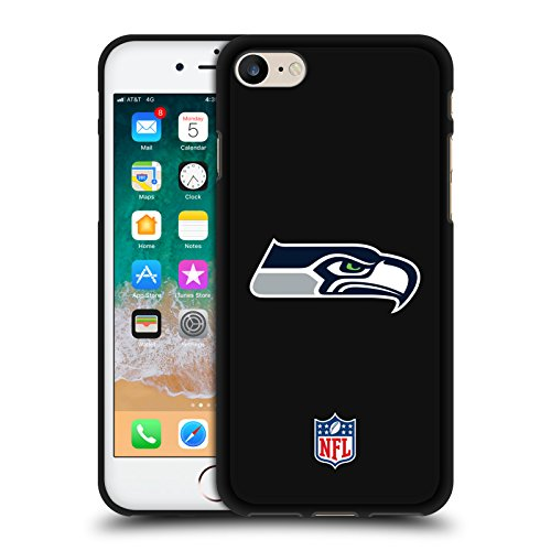 Head Case Designs Offizielle NFL Einfarbig Seattle Seahawks Logo 2 Schwarze Soft Gel Huelle kompatibel mit Apple iPhone 7 / iPhone 8 / iPhone SE 2020