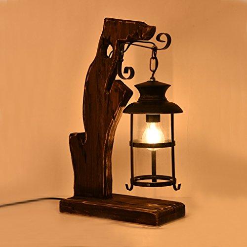 Bonne chose lampe de table LOFT Style rétro Nostalgique Hall Bar Couvre-lit Étude créative Salle de séjour Lampe de table décoratif en bois massif