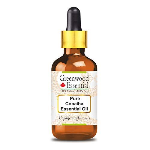 Greenwood Essential Pure Copaiba Essential Oil (Copaifera officinalis) con contagocce in vetro 100% naturale grado terapeutico distillato a vapore 15 ml (0,50 oz)