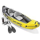 WUBAILI Bote Inflable, Juego De Kayak Inflable para 2 Personas con Remos De Aluminio Y Bomba De Aire De Alto Rendimiento,312×91×51CM