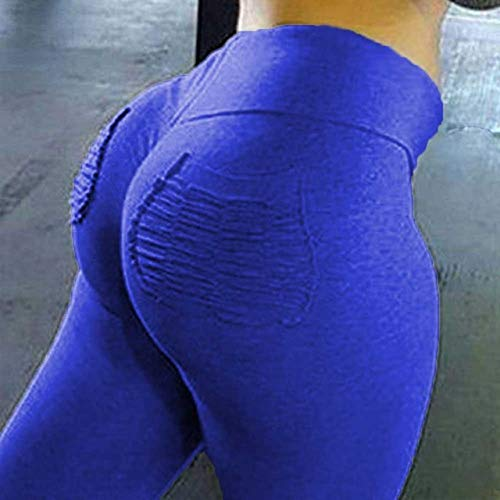 Mdsfe Yoga-panty met trainingsbroek voor dames met hoge taillezak Large blauw A8829