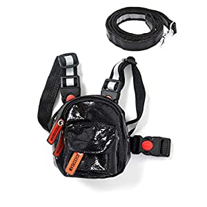 icicecream Cute Dog Backpack Harness with Leash Set Adjustable Saddle Bag with Reflective Strips Outdoor Travel Hiking Camping Water Repellent Backpack for Small, Medium & Large Dogs