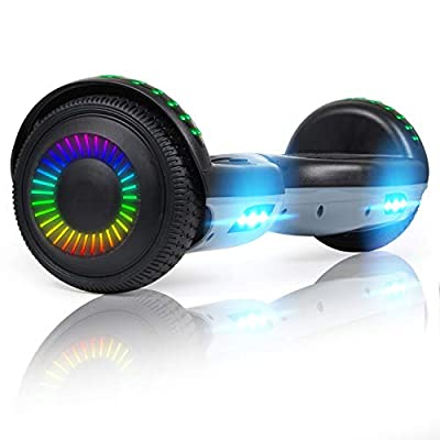 """Hoverboard for Kids, 6.5"""" Hoverboard Self Balancing Electric Scooter 8.5"""" All Terrain Segway Off-road Board with LED Light for Kids and Adults-with Bluetooth"""