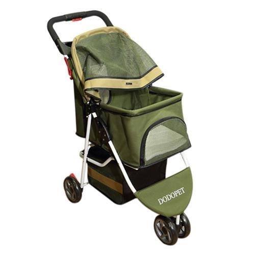 Paw Essentials ST-029 Deluxe Folding Three Wheel Pet Carrier Stroller Cart