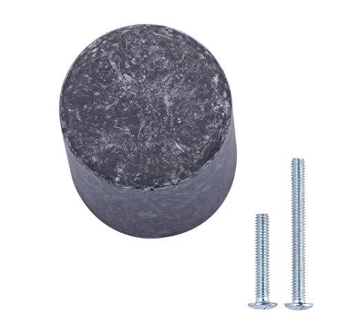 AmazonBasics - Pomo de armario, con forma de silbato, 1,9 cm de diámetro, Plata envejecidado, Paquete de 10