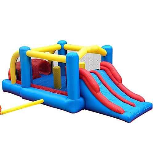 Kinder-Hüpfburg InflatableBouncy Schloss und Slide Kinder Schloss Aufblasbares Trampolin Indoor und Outdoor-Slide-Platz Aufblasbarer Prahler Bounce House (Farbe: Blau, Größe: 560times; 255times; 190cm