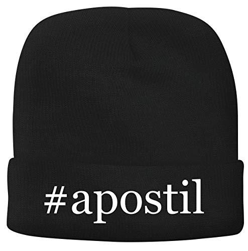 BH Cool Designs #Apostil - Men's Hashtag Soft & Comfortable Beanie Hat Cap, Black, One Size