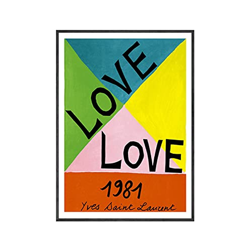 djnukd Fashion Poster Love Poster Canvas Painting Quotes Wall Art Posters Gallery Prints Vogue Wall Pictures Living Room Decoration 40X60Cmx1 No Frame