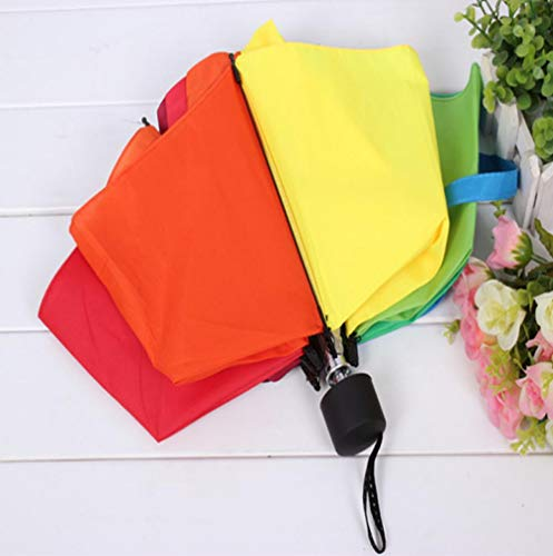 paraplu tri-Fold regenboog paraplu hoge dichtheid paraplu oppervlak super waterafstotende paraplu