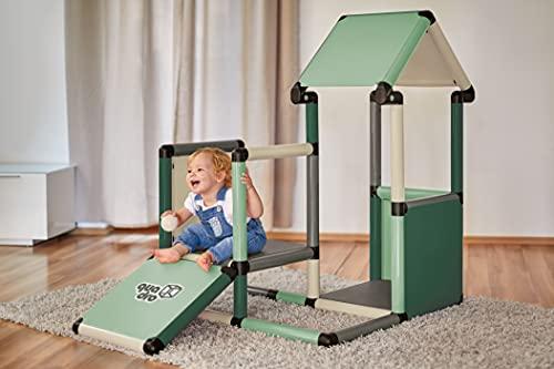 Quadro   Adventure Home   Klettergerüst für drinnen und draußen   Fördert Entwicklung von Kindern   Beliebig modular & erweiterbar   6 Jahre Garantie   Ab 6 Monaten (Mint)