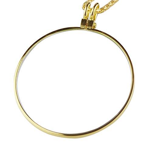 Magnifier-fyxd Fyxd 10 Mal Lupe Metall Hängende Kette Portable Jade Schmuck Alter Mann Lesen Muttertag Vatertag Geschenk (Farbe : Gold)