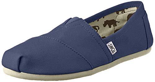Toms Women's Classic Canvas Navy Slip-on Shoe - 5 B(M) US