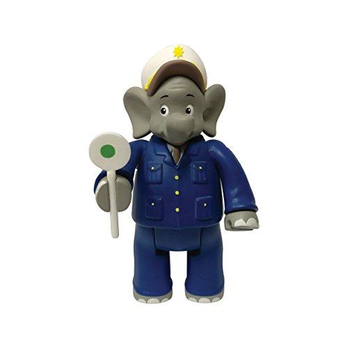 Benjamin Blümchen Figur als Polizist 10804, bewegliche Spielfigur ca. 9 cm groß, detailgetreue Gestaltung, mit tollen Accessoires von Jazwares