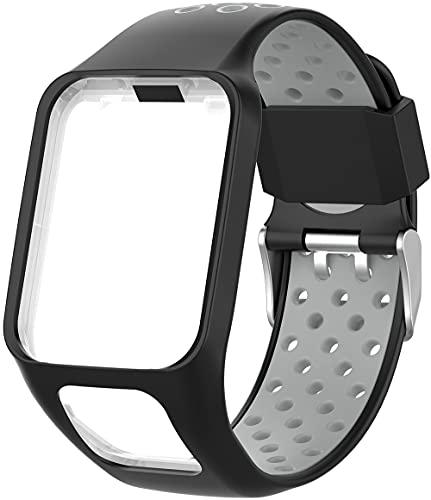 Chainfo Correa de Reloj Reemplazo Compatible con Tomtom Spark/Spark 3 / Runner 2 / Runner 3 / Golfer 2 / Adventurer, la Correa de Reloj Watch Band Accessorios (Pattern 7)