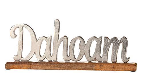 GILDE Schriftzug Aufsteller Dahoam Holz Aluminium Bayerisch Tischdeko 43x17 cm