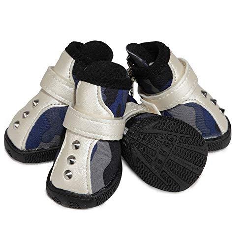JINSUO FDCW Perro Zapatos de Vestir Zapatos del Perro Cuatro Estaciones Botas de Perro Caliente Superficie de la Carretera de Goma Antideslizante único Cachorro de Protector de Garra