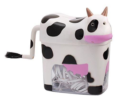 Big Save! Mini Cow Paper Shredder Manual Hand Crank Stright Cut