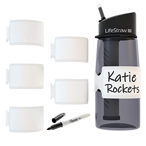 Permanent Write-on Labels for Bottles/Sippy Cups/Food Containers 6pcs (White)