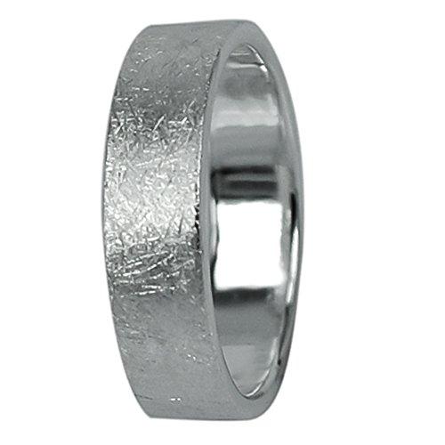 Silberring Maserung rau gebürstet massiv Ring 925er Sterling Silber Damen Herren Finger Schmuck Ringe Fingerringe Bandringe 5mm breit matt Silberringe