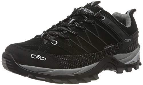 CMP Herren Rigel Low Shoes Wp Trekking-& Wanderhalbschuhe, Schwarz (Negro-Grey 73uc), 46 EU