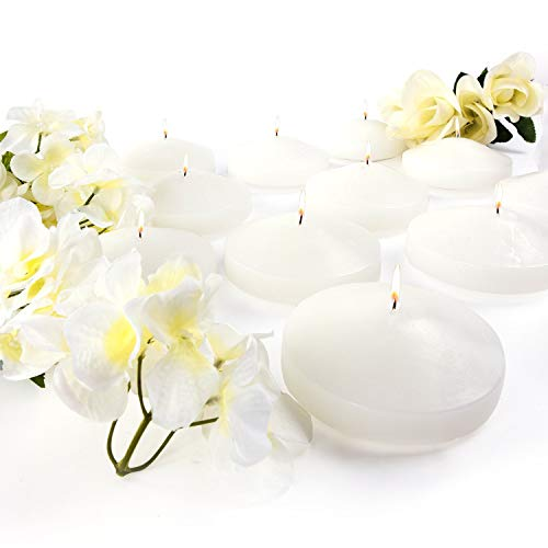 3.25' Ivory Unscented Dripless Floating Tealight Shape Candles Set (24 Pack)