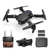 JJDSN Drone con cámara 4K para Adultos, WiFi FPV 4K HD Dual Camera Drone, Drone Plegable RC Quadcopter con retención de altitud, Modo sin Cabeza, posicionamiento Visual, Retorno automático