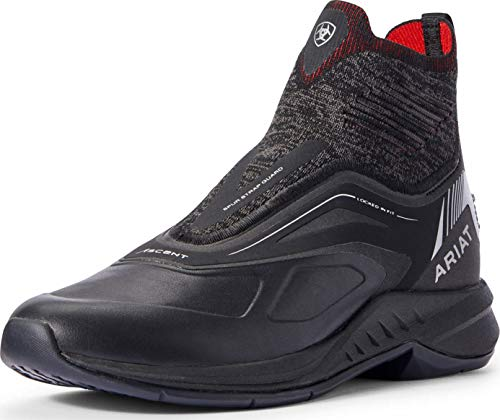 ARIAT Stiefelette Ascent | Farbe: Black Knit/red | Größe: 4.0 (37)